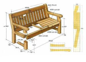 сборочный чертеж деревянной лавки