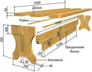 сборочный чертеж стола