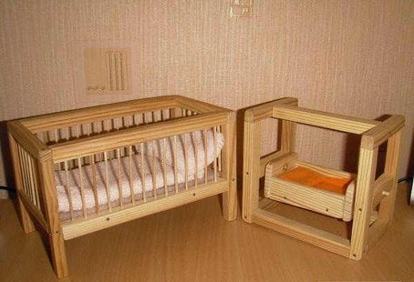 детская кроватка из бруса
