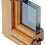 характерный разрез конструкции окна