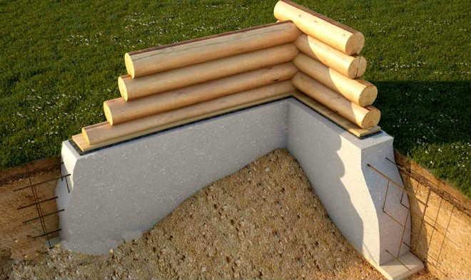 Сечение фундамента для деревянного дома