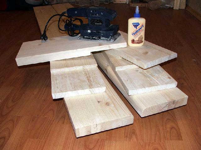 Доски подготовленные к склеиванию в брус