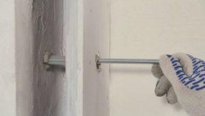 Крепление к гипсокартонной стене на анкер