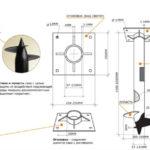 Схема для изготовления винтовой сваи