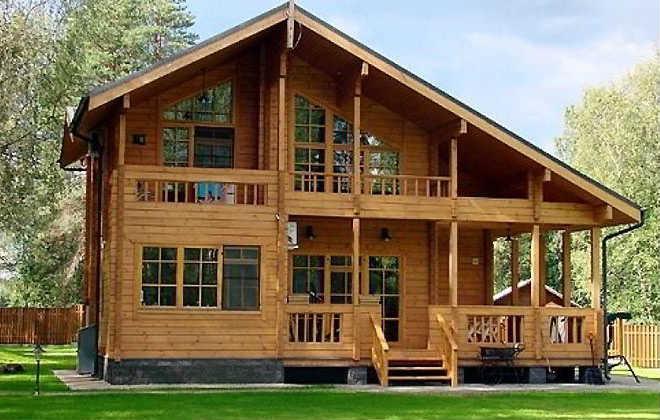 Деревянный дом построенный из калиброванного бруса