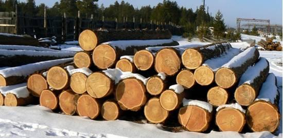 Уложенный лес кругляк