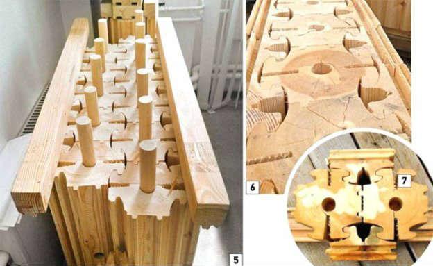 Наглядная схема сборки конструкций по технологии вертикального бруса