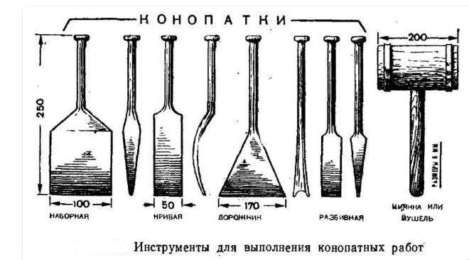 Инструменты для конопатки венцов сруба