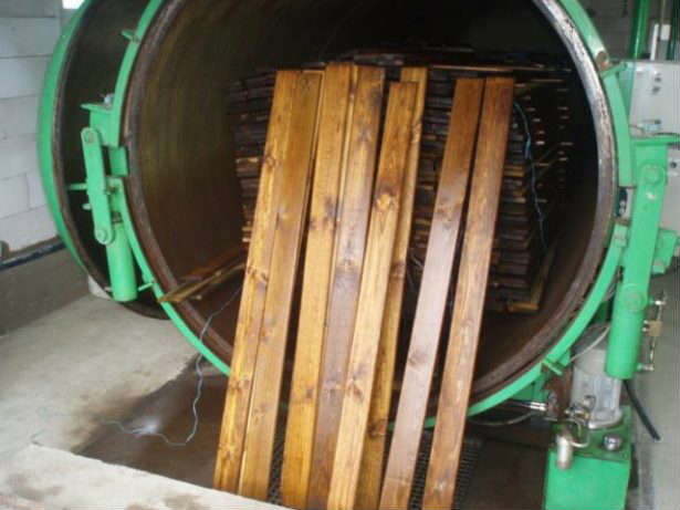Пропитка древесины в автоклавах