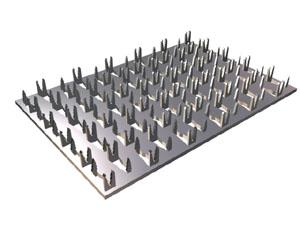 Металлическая зубчатая пластина для крепления бруса между собой